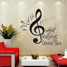 Music Notes Quote Removable Wall Decor Vinyl Sticker Mural Words Decal Home Art