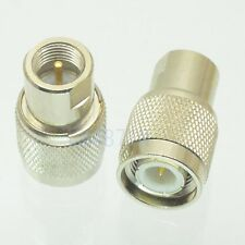 1pce Adapter TNC male plug to FME male plug RF connector straight M/M