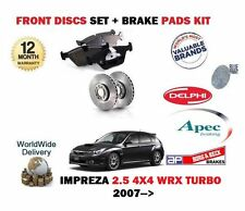 FOR SUBARU IMPREZA 2.5 WRX EJ255 2007--  FRONT BRAKE DISCS SET + DISC PADS KIT