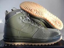 NIKE LUNAR FORCE 1 DUCKBOOT MEDIUM OLIVE-MEDIUM OLIVE SZ 11 [805899-201]