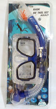 HLC Swimming Scuba Dive Snorkeling Mask Blue Set Adult size