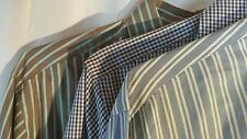 Lot of 3 Peter Millar Shirts Medium 100 % Cotton Retail $198 Stripes and Checks