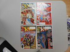 X-Men comic lot of 4! #'s217-220! All VF8.0+! Copper age Marvel beauties! LOOK!