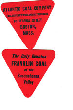"""BUY 1 GET 1 FREE !!!!!COAL MINE SCATTER TAG   """" FRANKLIN COAL """" NICE TAG  !!!!!"""