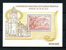 Spain Stamps - 1990 Filatern 90 Third National Thematic Stamps Ex Palencia Sheet
