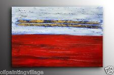 Framed Palette Knife oil painting on canvas Abstract hung vertical or horizont