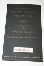 WOW Vintage 1940s Wartime Soldier's Duty Free Jamaica Shopping Paper Pamphlet