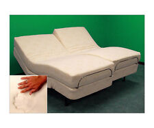 "SPLIT KING DUAL REMOTE ADJUSTABLE BED  9"" COOL BREEZE GEL MEMORY FOAM MATTRESS"