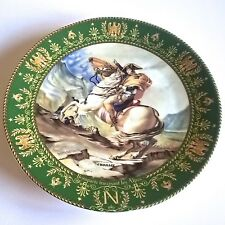 "D'ARCEAU LIMOGES PLATE ""BONAPARTE CROSSING THE ALPS"" JOSEPHINE & NAPOLEON SERIES"