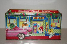 """VINTAGE 1996 M&MS """"DINER"""" LIMITED EDITION COLLECTORS TIN #04 CHRISTMAS"""