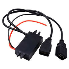 Car Boat Motorcycle Dual USB Charger DC 12V To 5V 3A Power Adapter Supply