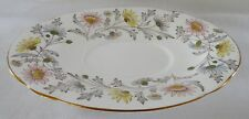 FOLEY England SOMERSET under plate TRAY for Gravy Boat  pretty floral gold rims