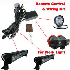 New Strobe LED ofrroad Work Light Light Bar HID KIT Wireless Remote Control Set