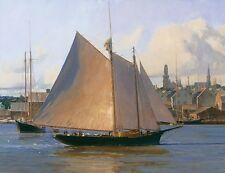 """Afternoon Arrival, Gloucester"" Christopher Blossom Fine Art Giclee Canvas"