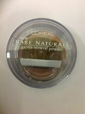 L'Oreal Bare Naturale Gentle Mineral Face Powder Nude Beige #412 New.
