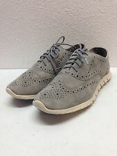 Cole Haan ZeroGrand Ironstone Suede Perforated Wingtip Oxford Women's Size 8 B