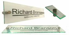 Modern Office Door Wall Sign Premium quality glass effect acrylic ANY WORDING!