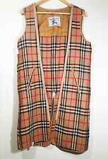 Burberry Burberrys Wool Zip Out Lining Liner for Trench Coat Plaid Size About 12
