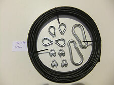DIY 10m gym cable making kit 3mm-4mm multi gym, cable cross etc weight stack
