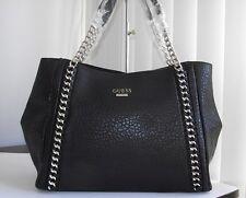 Guess black jensyn classic large shoulder bag satchel