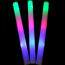 120 PCS Light Up Foam Sticks LED Wands Rally Rave Batons DJ Flashing Glow Stick