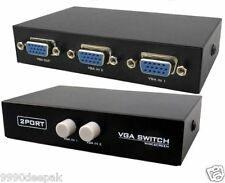 2 Port VGA Switch - Splitter (Manual) Connect 1 Monitors to 1CPU/2 CPU to1Screen