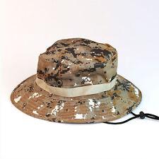 New Mens Camo Military Boonie Cap Sun Bucket Brim Bush Army Fishing Hiking Hat