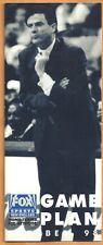 Boston Celtics Rick Pitino Photo on 1998 Fox Sports Game Plan Schedule Brochure