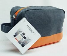 American Eagle Outfitters ORANGE GREY Travel Bag Pouch Purse Case Shave Wash MEN