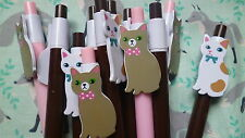 joli STYLO BILLE animal CHAT kawaii stationery fourniture scolaire