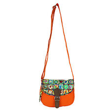 Anekaant Whimsical Printed Women Canvas Orange Sling bag
