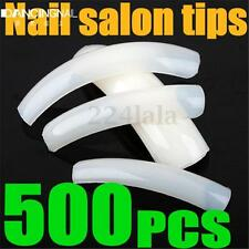 500Pcs Natural UV Gel French Acrylic False Nail Art Extra long Sharp White Tips