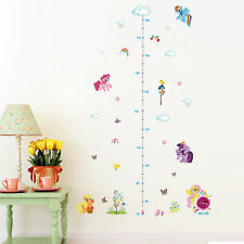 My Little Pony Cute Mini Height Measure Chart Wall Sticker Kids Room Decal Decor