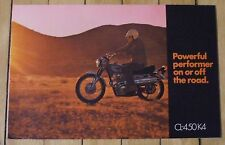 1972 Honda CL-450 K4 Scrambler Motorcycle Dealer Sales Brochure Nice Condition