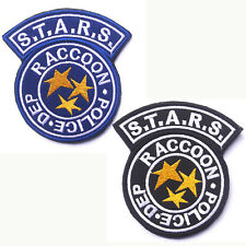 2PCS Resident Evil Raccoon City S.T.A.R.S. RACCOON POLICE DEP. EMBROIDERED PATCH