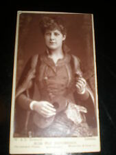 Cdv old photograph actress Miss Flo Henderson by Downey London c1890s
