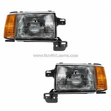 AIRSTREAM LAND YACHT 2001 FRONT HEADLIGHTS LIGHTS HEAD LAMPS RV PAIR SET
