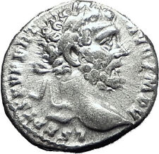 SEPTIMIUS SEVERUS 193AD Authentic Ancient Silver Roman Coin MARS WAR i60410