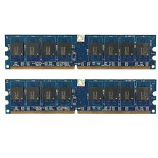 2GB 2x1GB DDR2 PC2-5300 PC5300U 240Pin 667MHz Desktop PC DIMM Memory RAM NON-ECC