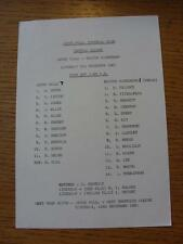 05/12/1981 Aston Villa Reserves v Bolton Wanderers Reserves  (Single Sheet, Scor
