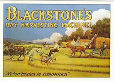 ROBERT  OPIE  ADVERTISING  POSTCARD  -  BLACKSTONE'S  HAY  HARVESTING  MACHINES