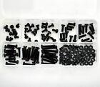 Metric M3 Black Nylon Screw & Nut Assorted Kit, M3 4 ~18mm ,SCW-KIT5-B