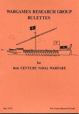 WRG 16th Century Naval Warfare Rulettes