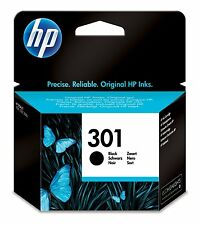 2X HP Deskjet 1000 Printer Ink Cartridge Genuine Original 301 Black CH561E 3050a