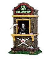 LEMAX HALLOWEEN SPOOKY TOWN railroad TICKET BOOTH KIOSK ONE WAY TICKETS ONLY~NEW