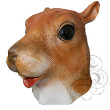 Latex Full Head Animal Cosplay Woodland Squirrel Fancy Prop Carnival Party Mask