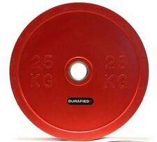 25kg (55lb) Olympic Bumper Plate, Red (Pair), NEW *Free SHIPPING* for CrossFit
