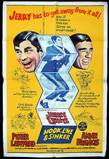 HOOK LINE AND SINKER Original ONE SHEET Movie poster Jerry Lewis