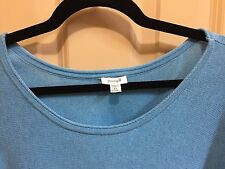 Brand new pure cotton turquoise blue aqua sweater top j.jill 2X pure Jill