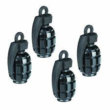 4pcs Black Grenade Bomb Car Truck Wheel Tyre Tire Valve Core Stems Air Dust Cap